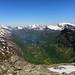 Dalsnibba, uitkijkend op fjord Geiranger Noorwegen