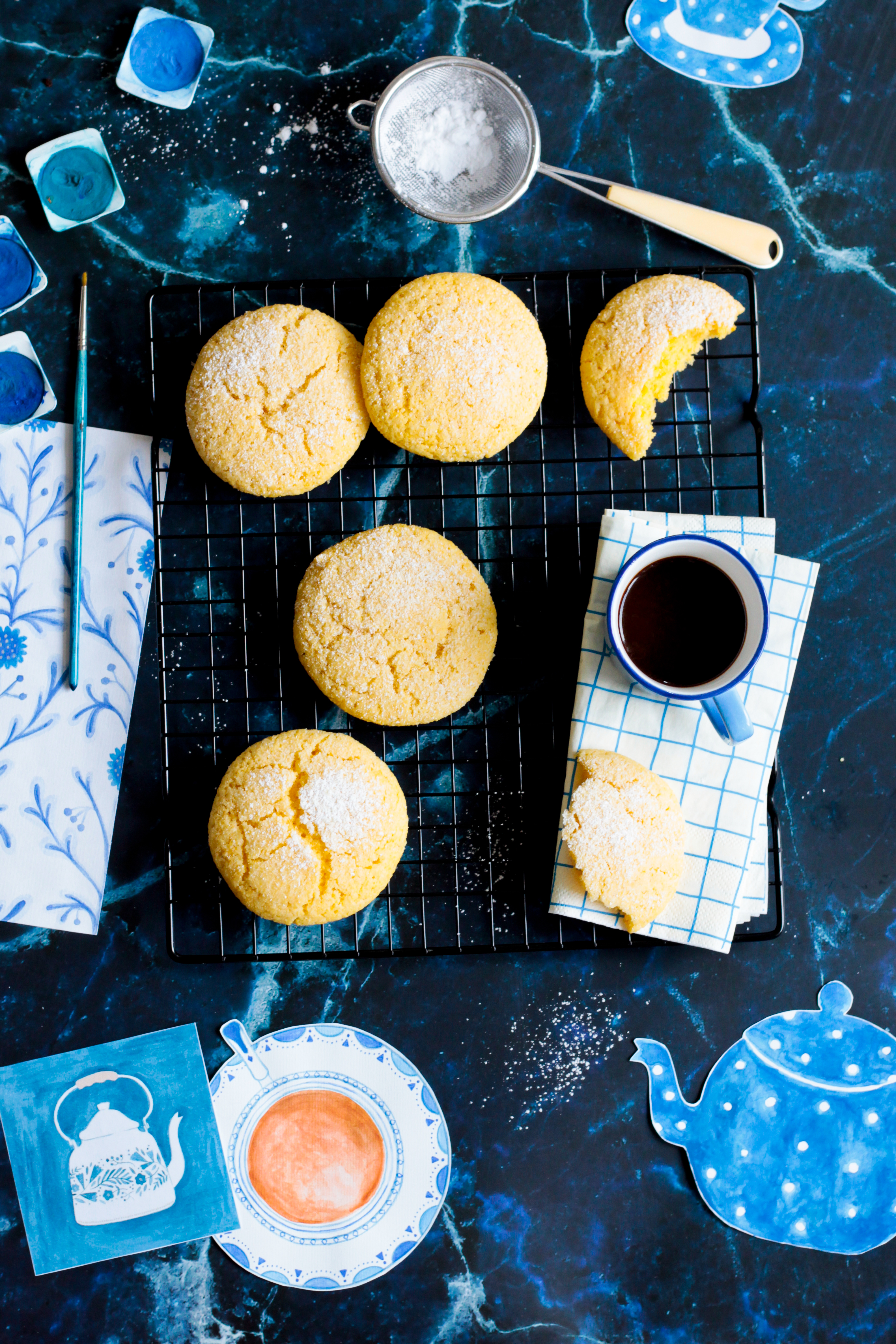 meini-corn flour cookies