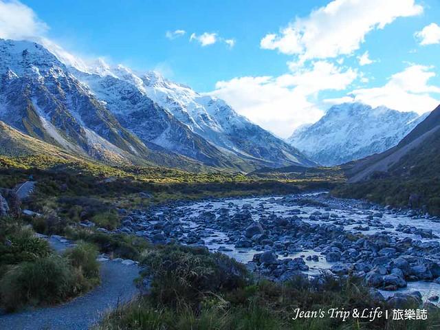 庫克山胡克山谷步道開闊的山景非常美