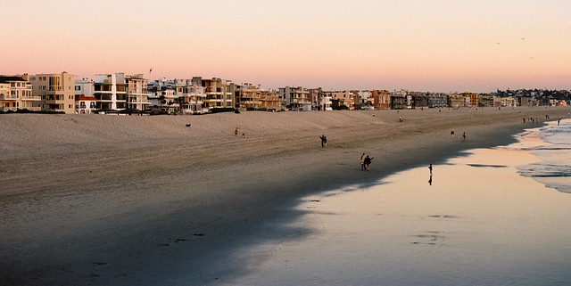 Beach pano at dusk