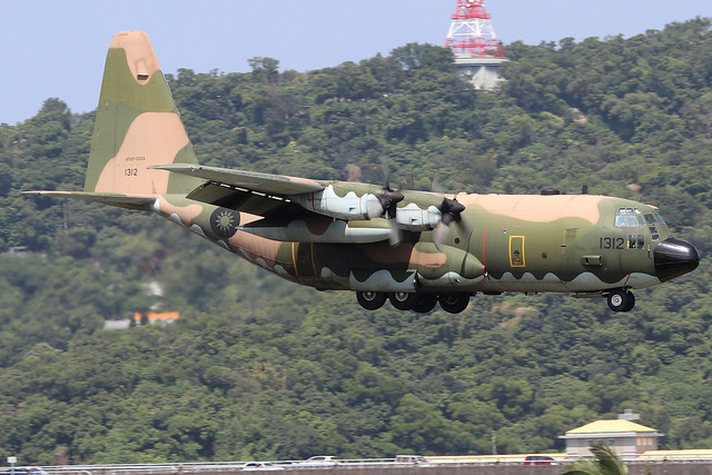1312  -  Lockheed C130H Hercules  -  Taiwan Air Force  -  TSA/RCSS 10/10/19