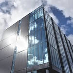 Shining university building in Preston