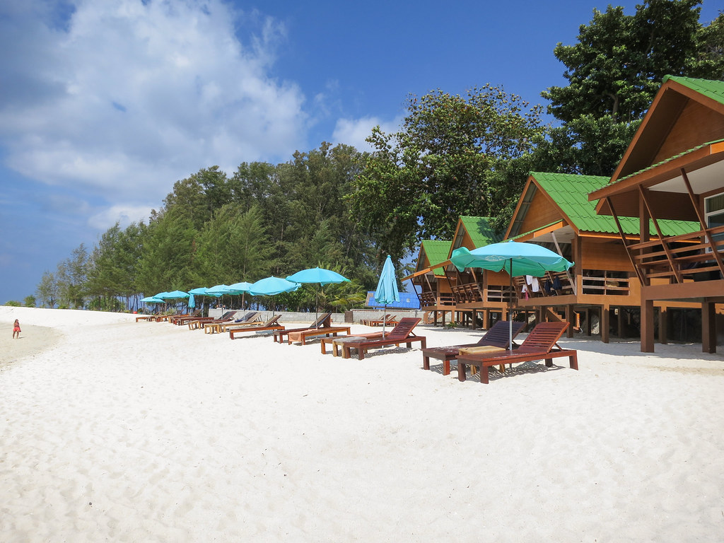 Beach in front of Mountain Resort