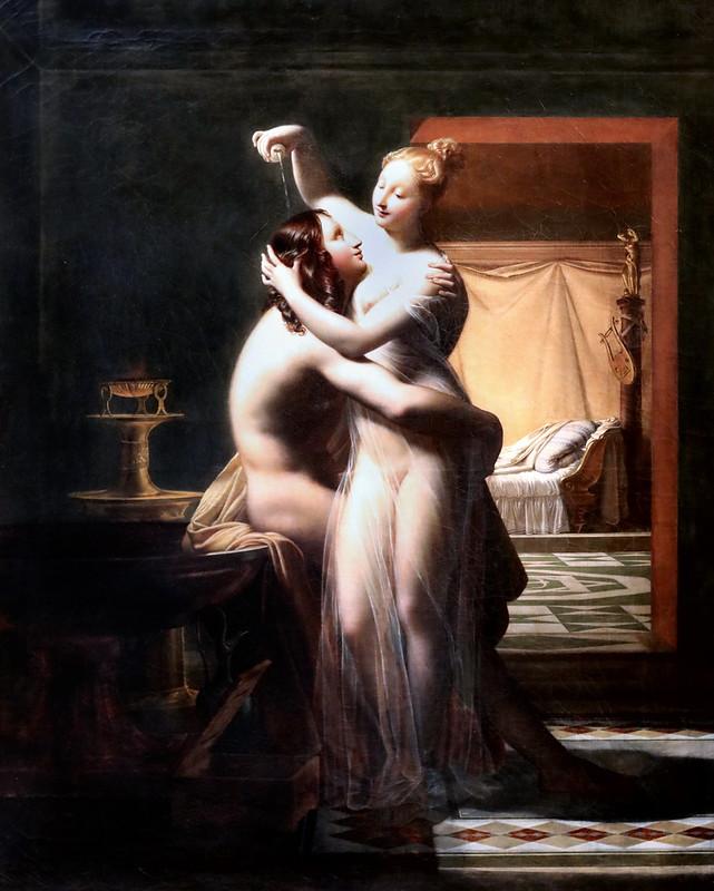IMG_1441H Pierre Claude Delorme. 1783-1859 Paris Hero et Léandre  Hero and Leander  1814 Brest Musée des Beaux Arts