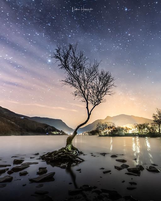 Alone under the stars!