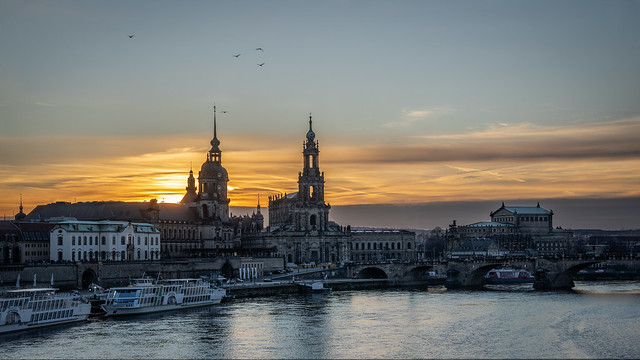Old town sunset - Altstadt Sonnenuntergang