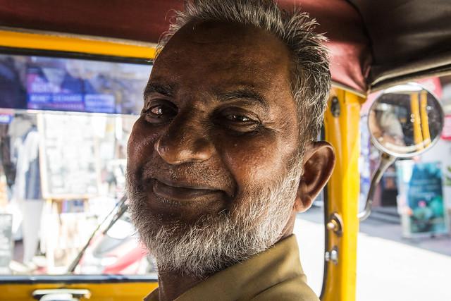 Tuk Tuk Driver, Fort Kochi, Kerala, India