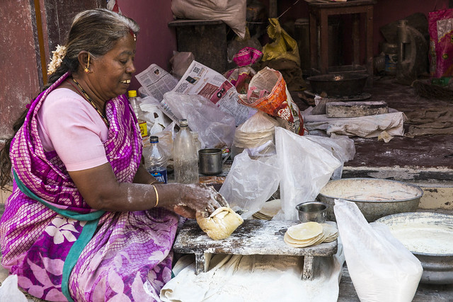 Making Papadoms, Fort Kochi, Kerala, India