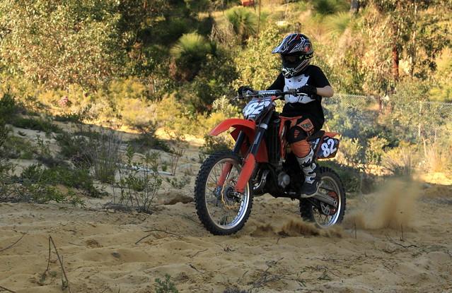 Australia - grandson #3 on dirt bike