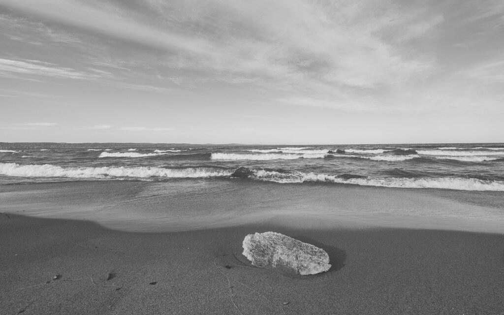 Ice at Park Point Beach, Duluth 3/26/20