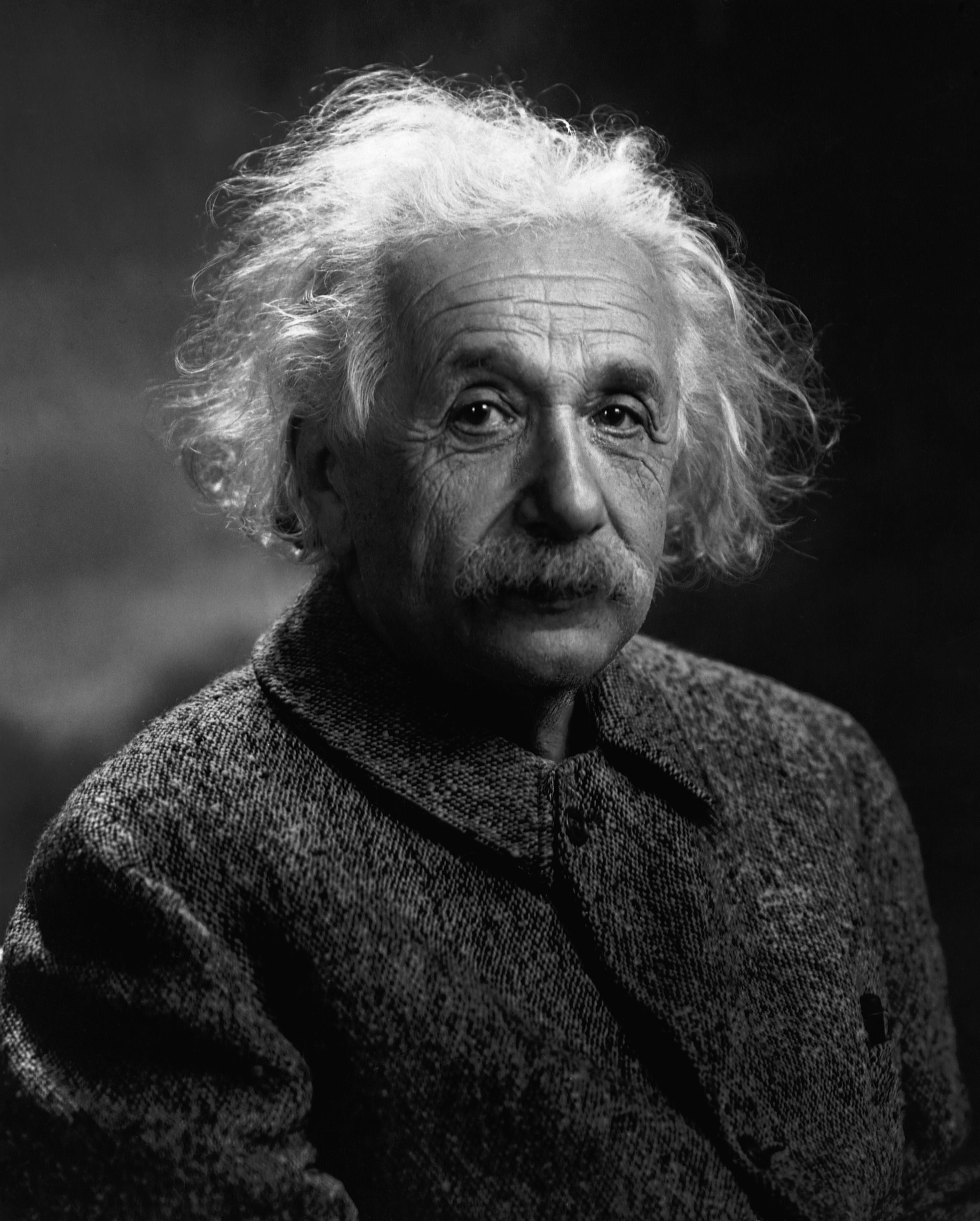 Портрет Альберта Эйнштейна в большом разрешении
