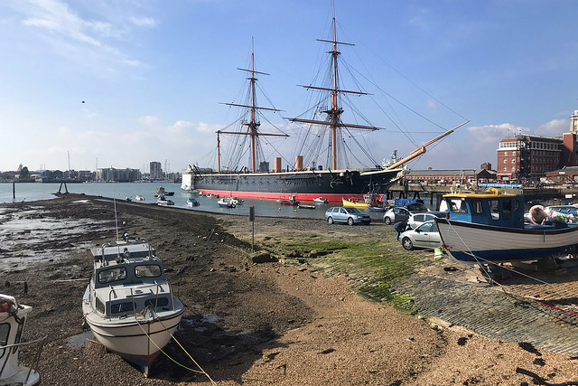 HMS Warrior, Portsmouth Harbour, March 26th 2020