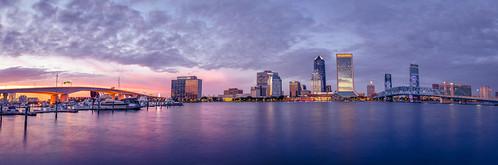jacksonville sunset cityscape sky skyline waterfront longexposure panaromicview panorama
