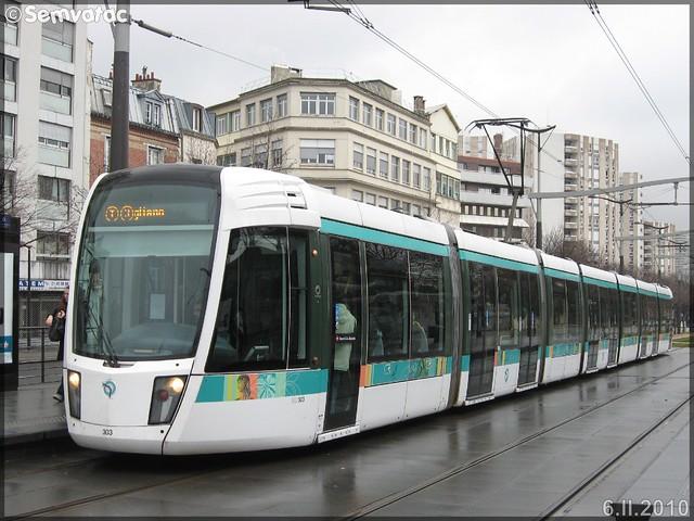 Alstom Citadis 402 – RATP (Régie Autonome des Transports Parisiens) / STIF (Syndicat des Transports d'Île-de-France) n°303