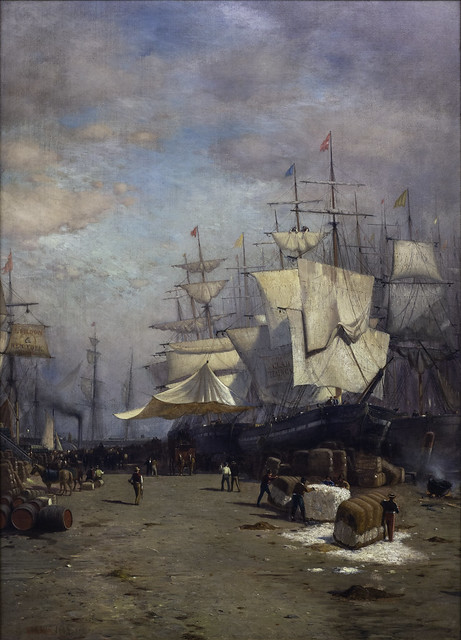Samuel Colman, Jr., Ships Unloading, New York