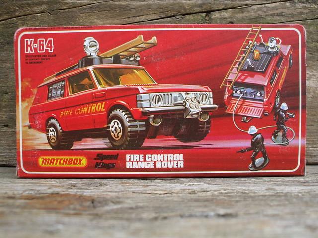 Vintage 1978 Matchbox Speed Kings Range Rover Fire Control Truck Box Art