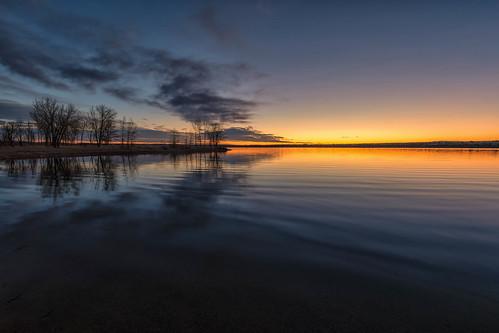 sunrise dawn daybreak lakechatfield chatfieldstatepark colorado trees pond reflections landscape