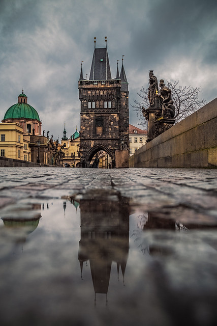 After the rain in Charles bridge