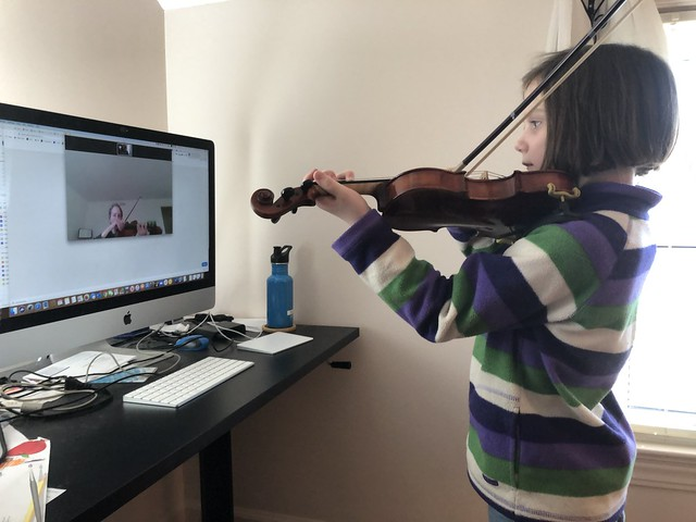 First Zoom-based violin lesson!