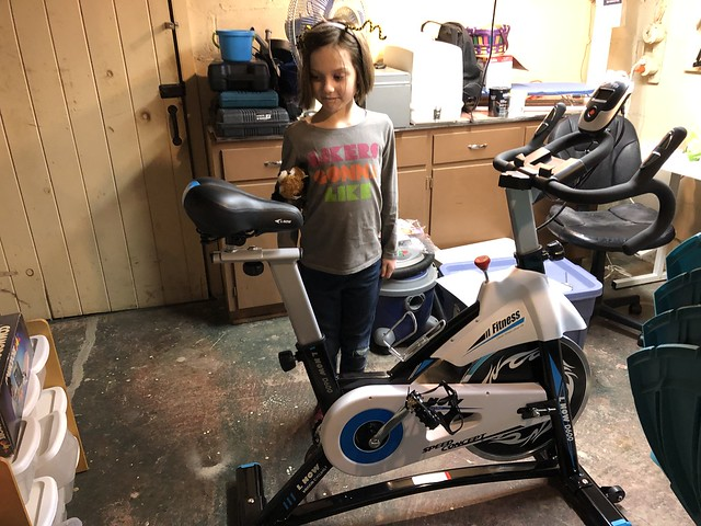 Now we have an exercise bike!