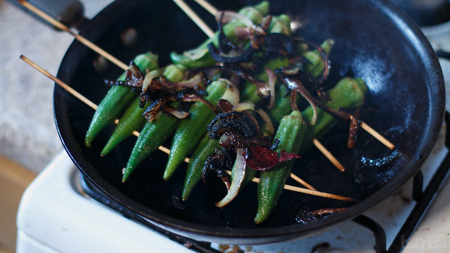 Okra & Crisped Onion-3