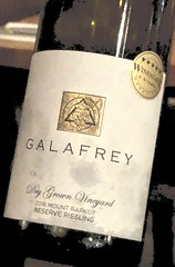 Out of this world wine? Galafrey wine label