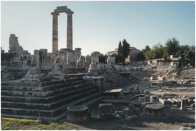 The ruins of the Oracle Temple of Apollo at Didyma, Turkey - Sept 2019