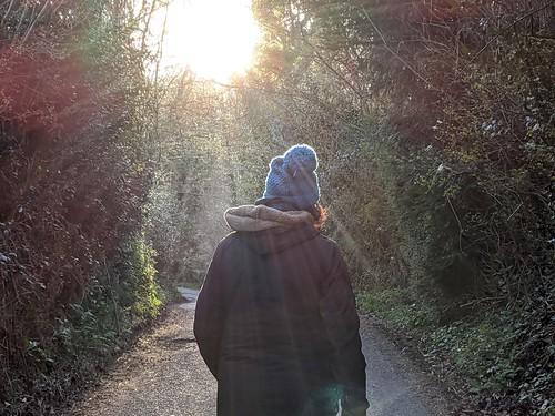 people person woman walking lanes isolation sunset covid19 coronavirus alone quarantine