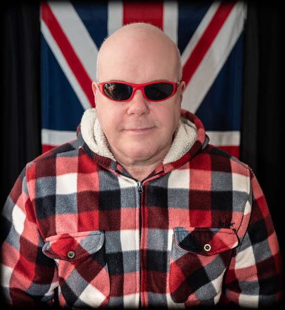The Union Jack and me. . . A selfie. . .