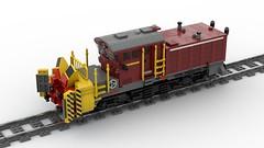 Beilhack Schneeschleuder SBB X rot m 95 | LEGO