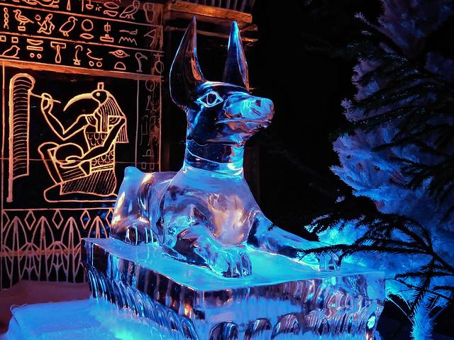 Ice Sculpture Festival: Anubis (N4491)