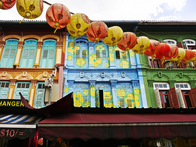 photo - Above the Shops in Singapore's Chinatown