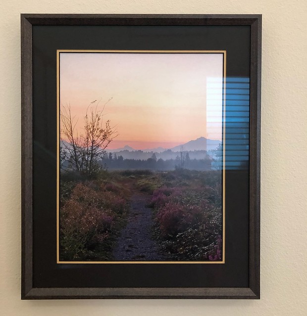My friend Claire framed one of my photos