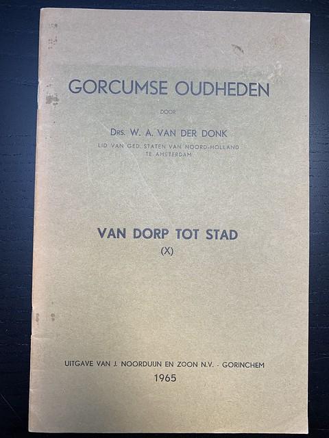Boekje - Gorcums oudhedendoor W.A. van der Donk