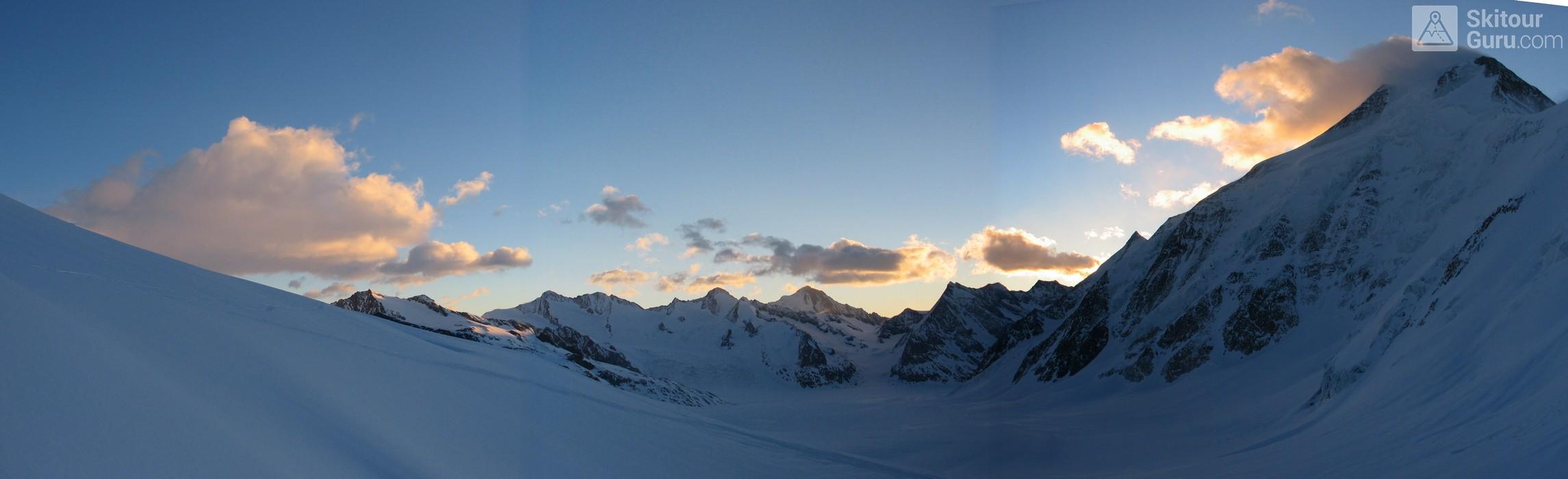Hollandiahütte (Lötschenhütte) Berner Alpen / Alpes bernoises Switzerland panorama 12