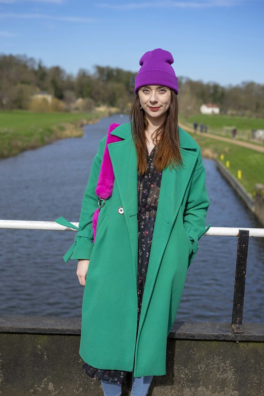 Green Coat, Purple Hat and Pink Bag 3