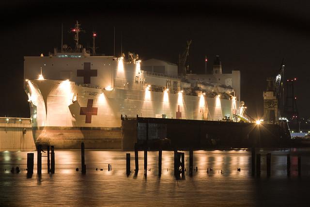 USNS Mercy in Drydock at BAE Shipyards