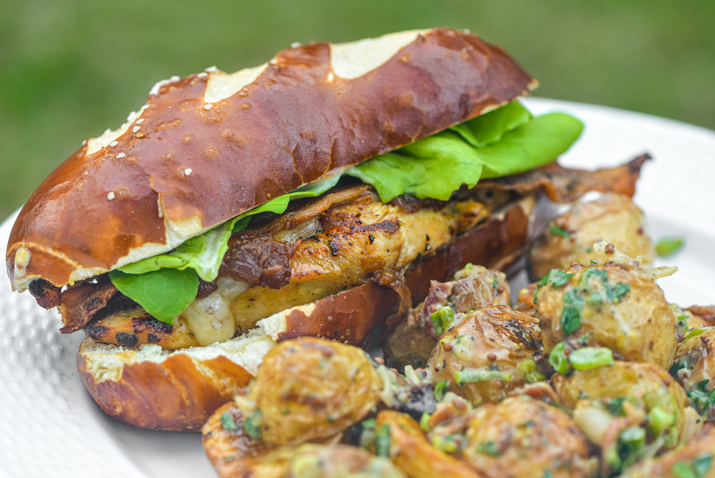 Mustard-marinated Chicken Sandwiches