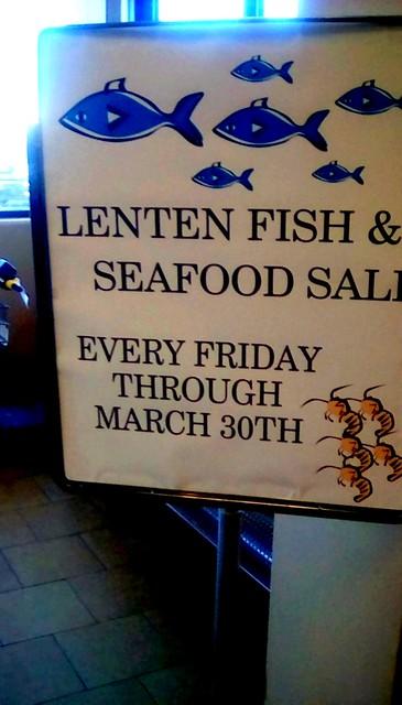 Supermarket Lenten sign - SS Menominee Michigan