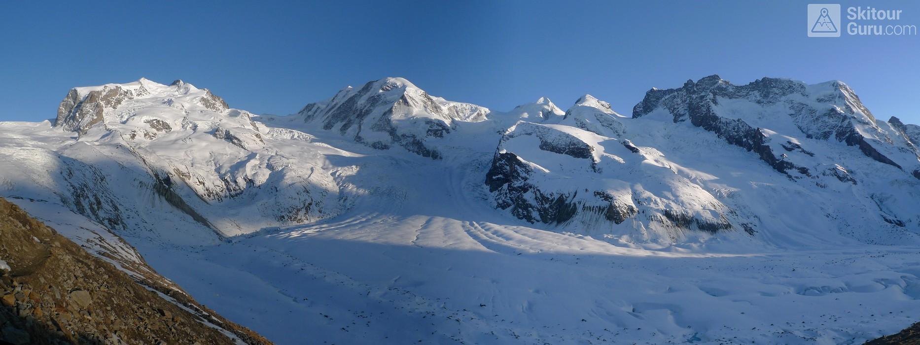 Monte Rosa Hütte Walliser Alpen / Alpes valaisannes Switzerland panorama 18