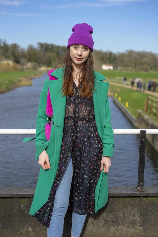 Green Coat, Purple Hat and Pink Bag 5