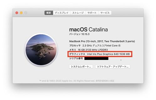 MacBook Pro (13-inch,2017) GPU