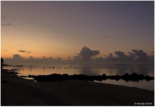 mauritius bel ombre beach sunrise dawn