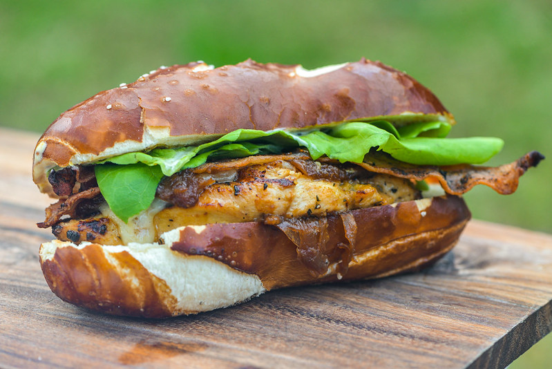 Mustard-marinated Chicken Sandwich