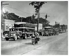 Damaged scab trucks arrive in Washington, D.C.: 1938