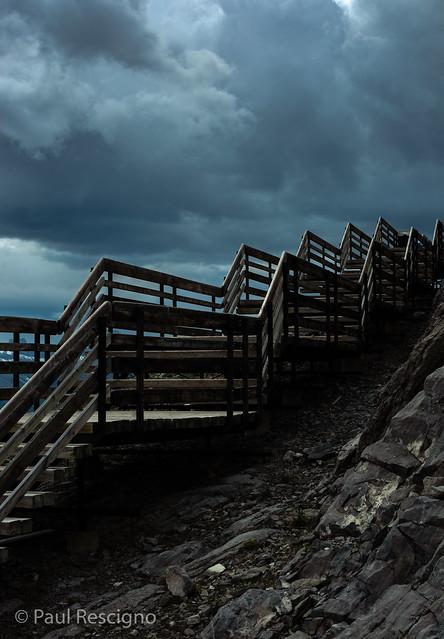 Staircase, Banff Gondola, Alberta, Canada