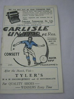 Carlisle United v  Consett   5-5-1951 | by cumbriangroundhopper