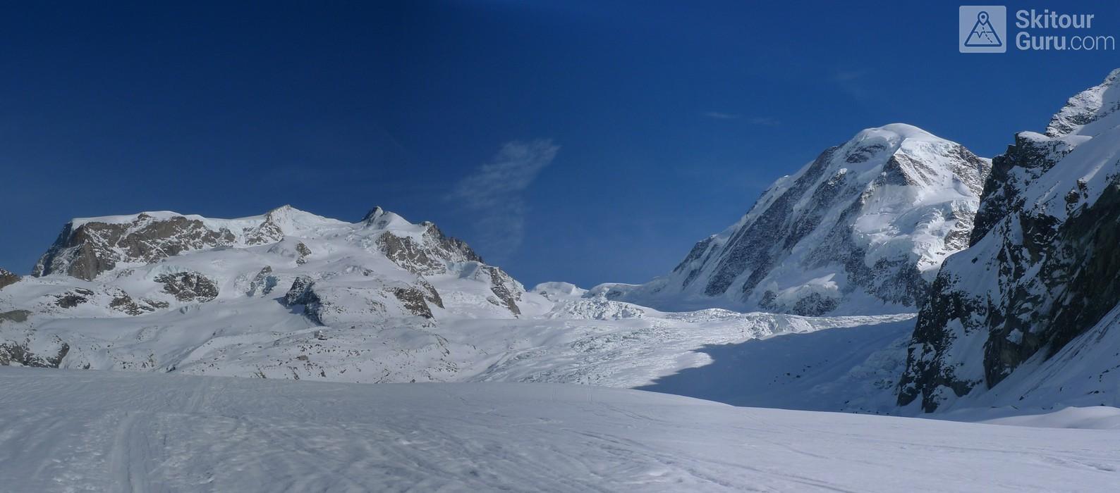 Monte Rosa Hütte Walliser Alpen / Alpes valaisannes Switzerland panorama 16