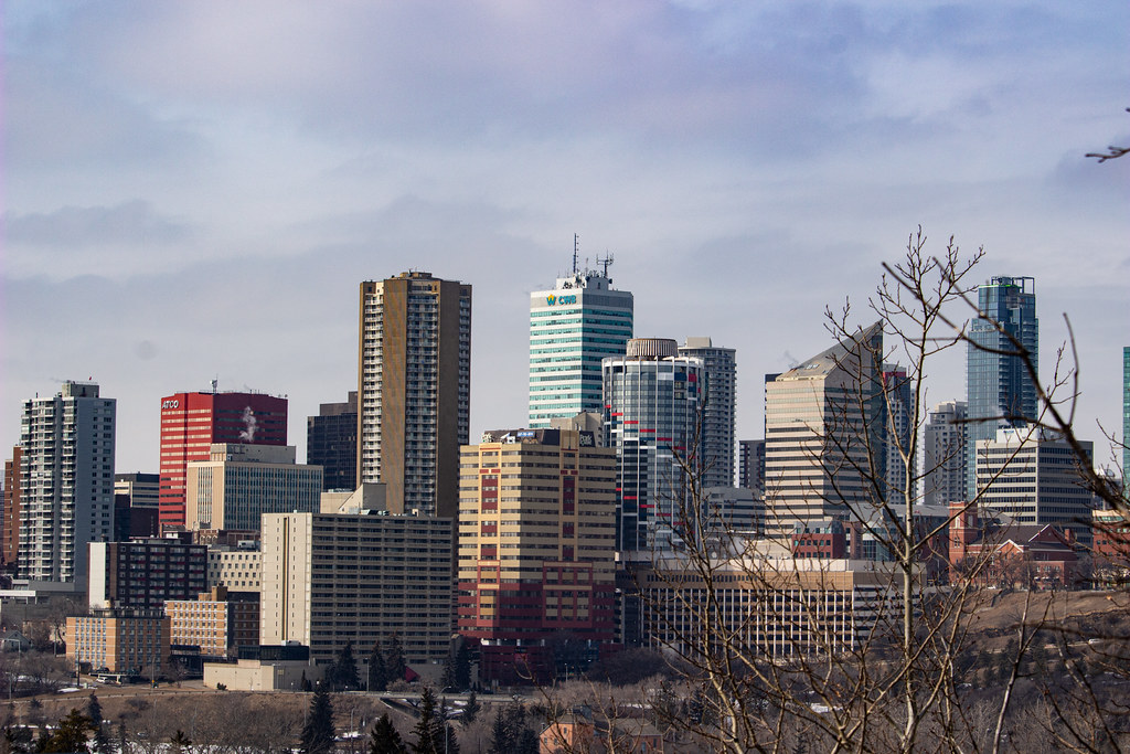 A late winter view of Edmonton's skyline