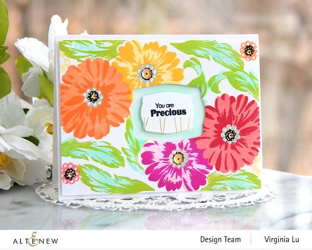 Altenew-PreciousBloom StampSet-Mask-Virginia#1